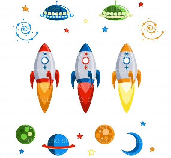 570x526 Rocket Clipart Planet