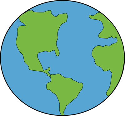 400x371 Planet Earth Clipart Cute