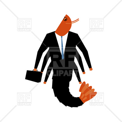 400x400 Office Plankton. Marine Animal In Business Suit. Royalty Free