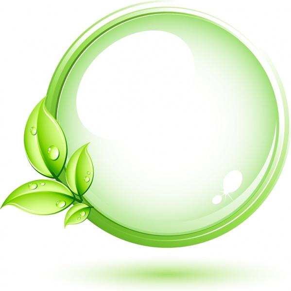 599x600 Green Plant And Circle Free Vector In Adobe Illustrator Ai ( Ai