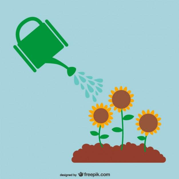 626x626 Watering Plants Vector Vector Free Download