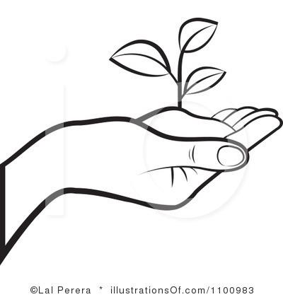 400x420 Free Black And White Plant Clip Art