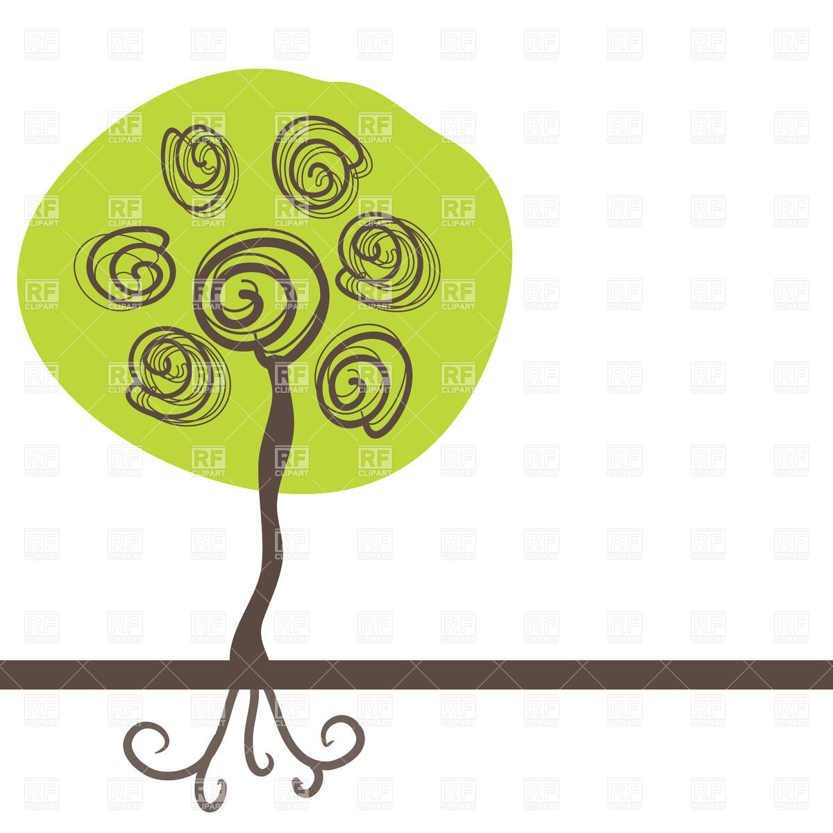 Plant With Roots Clipart