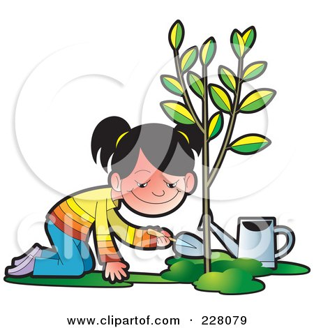 450x470 Poster Clipart Tree Planting