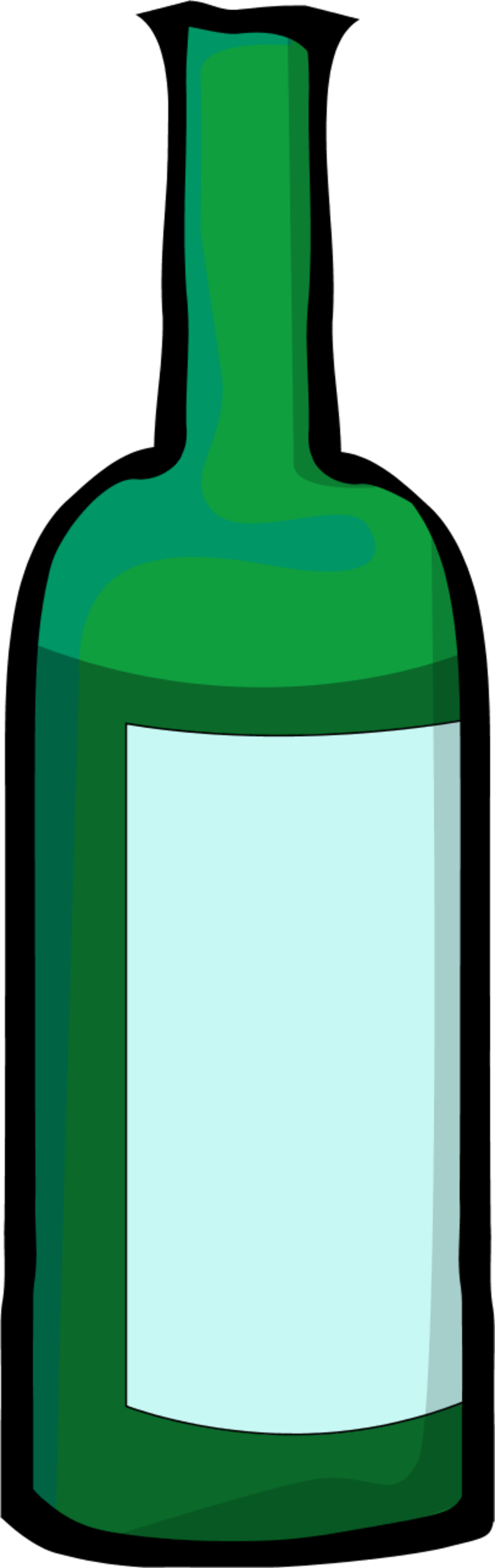 600x1898 Bottle Clipart Green Bottle
