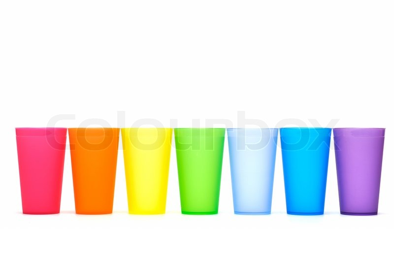 800x532 Group Of Bright Plastic Cups Stock Photo Colourbox