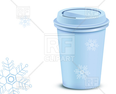 400x324 Christmas Plastic Coffee Cup With Lid Royalty Free Vector Clip Art