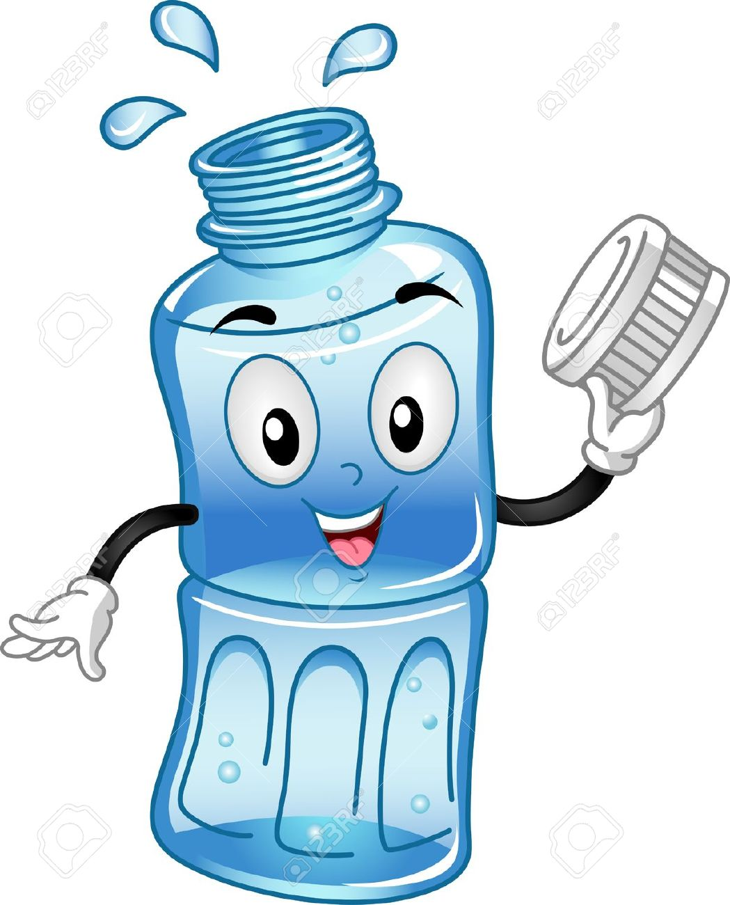 Plastic Water Bottle Clipart | Free download on ClipArtMag