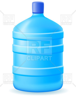 314x400 Water In A Big Blue Office Plastic Bottle Royalty Free Vector Clip