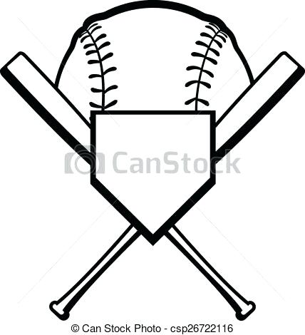 428x470 Baseball Clipart Black And White Crossed Baseball Baseball Clipart