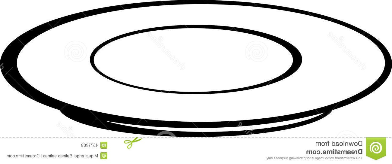 Plate Clipart Black And White Free Download Best Plate Clipart