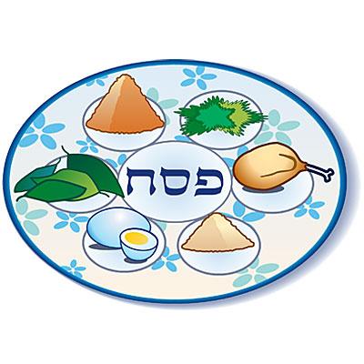 400x400 Seder Plate Clipart