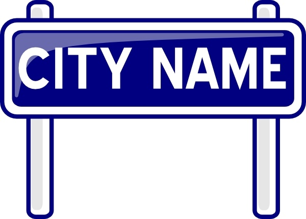 600x429 City Name Plate Road Sign Post Clip Art Free Vector In Open Office