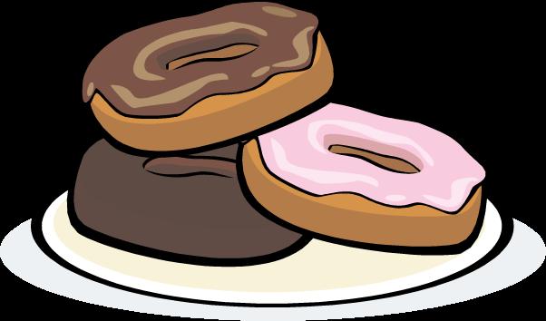 602x354 Donut Clip Art In Plate