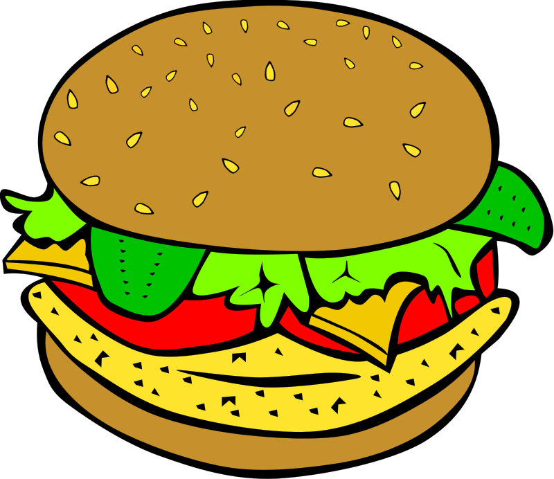 800x692 Hamburger Clipart Plate Food