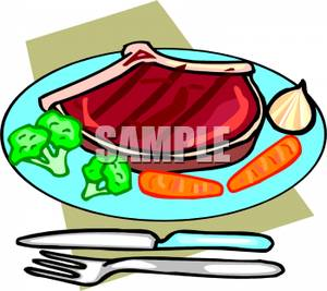 300x267 Healthy Plate Of Food Containing Steak, Broccoli,carrots,d