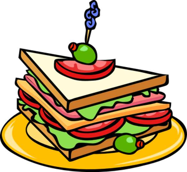 600x554 Sandwich Clipart Plate Food
