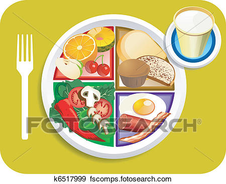 450x367 Clip Art Of Food My Plate Breakfast Portions K6517999