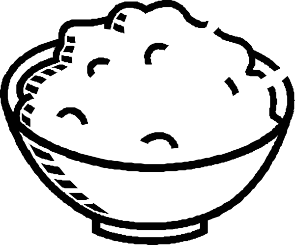 600x499 Clip Art Plate Of Rice Clipart