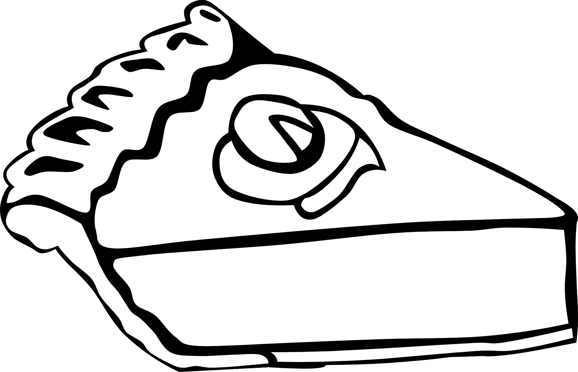 1969x1268 Meal Clipart Black And White