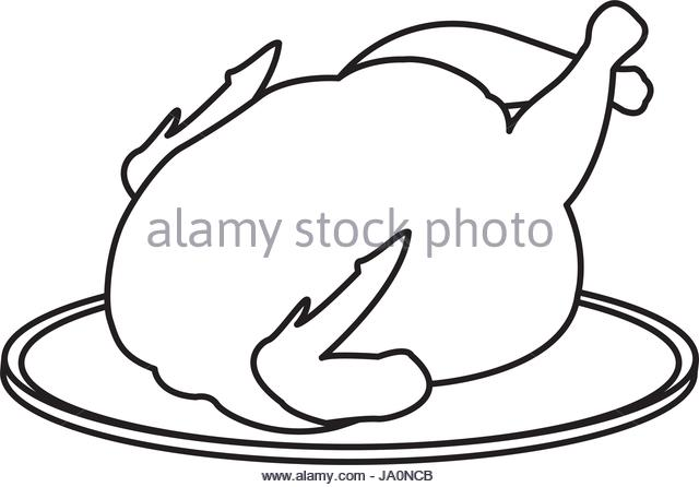 640x446 Plate Of Hot Food Clipart Black And White Collection
