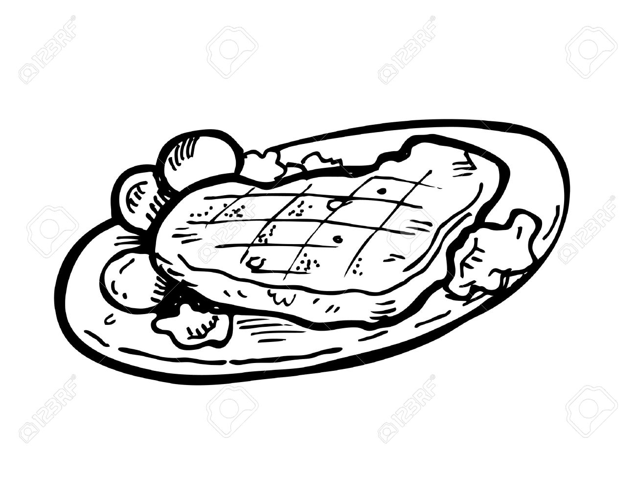1300x975 Beef Clipart Black And White