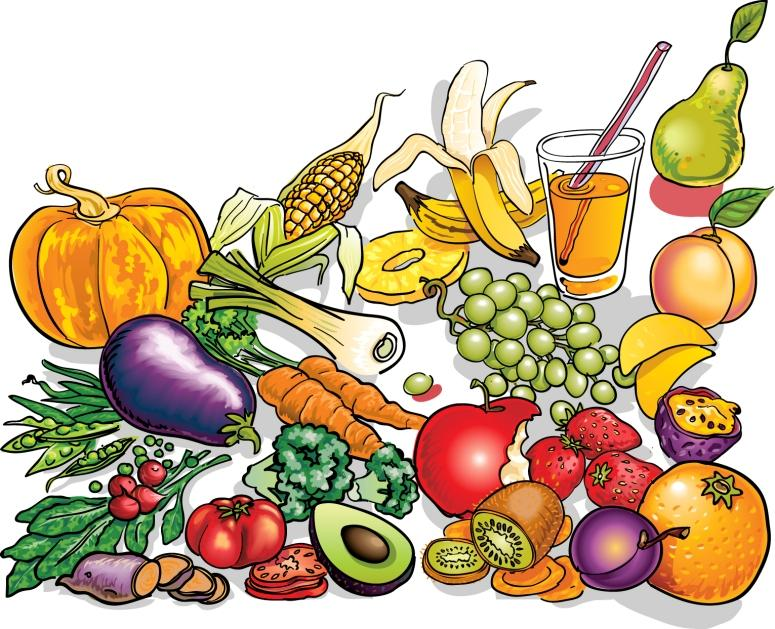 775x629 Fruits Amp Vegetables Clipart Plate Food