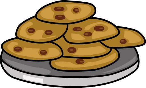 513x309 Plate Of Cookies Clipart