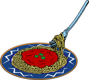 Plate Of Spaghetti Clipart