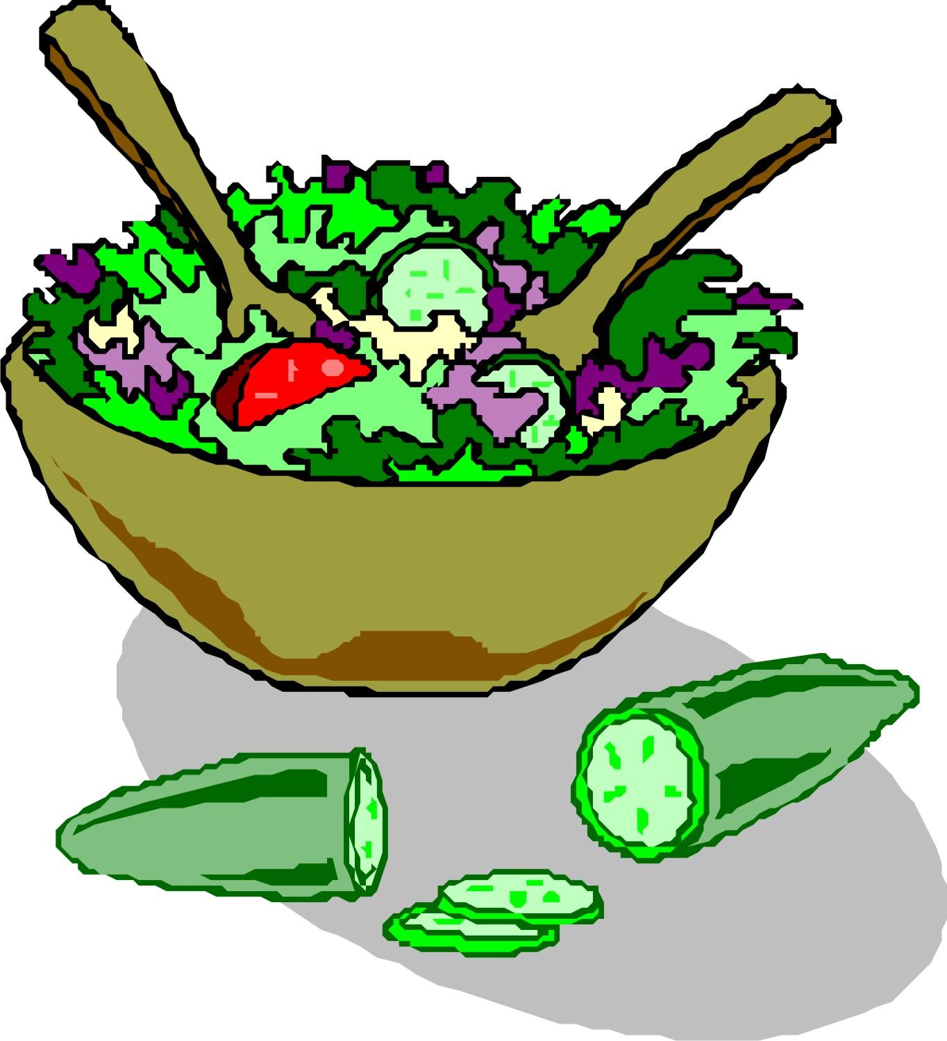1364x1500 Vegetable Salad Clipart