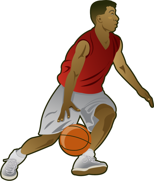 592x697 Basketball Player Clipart