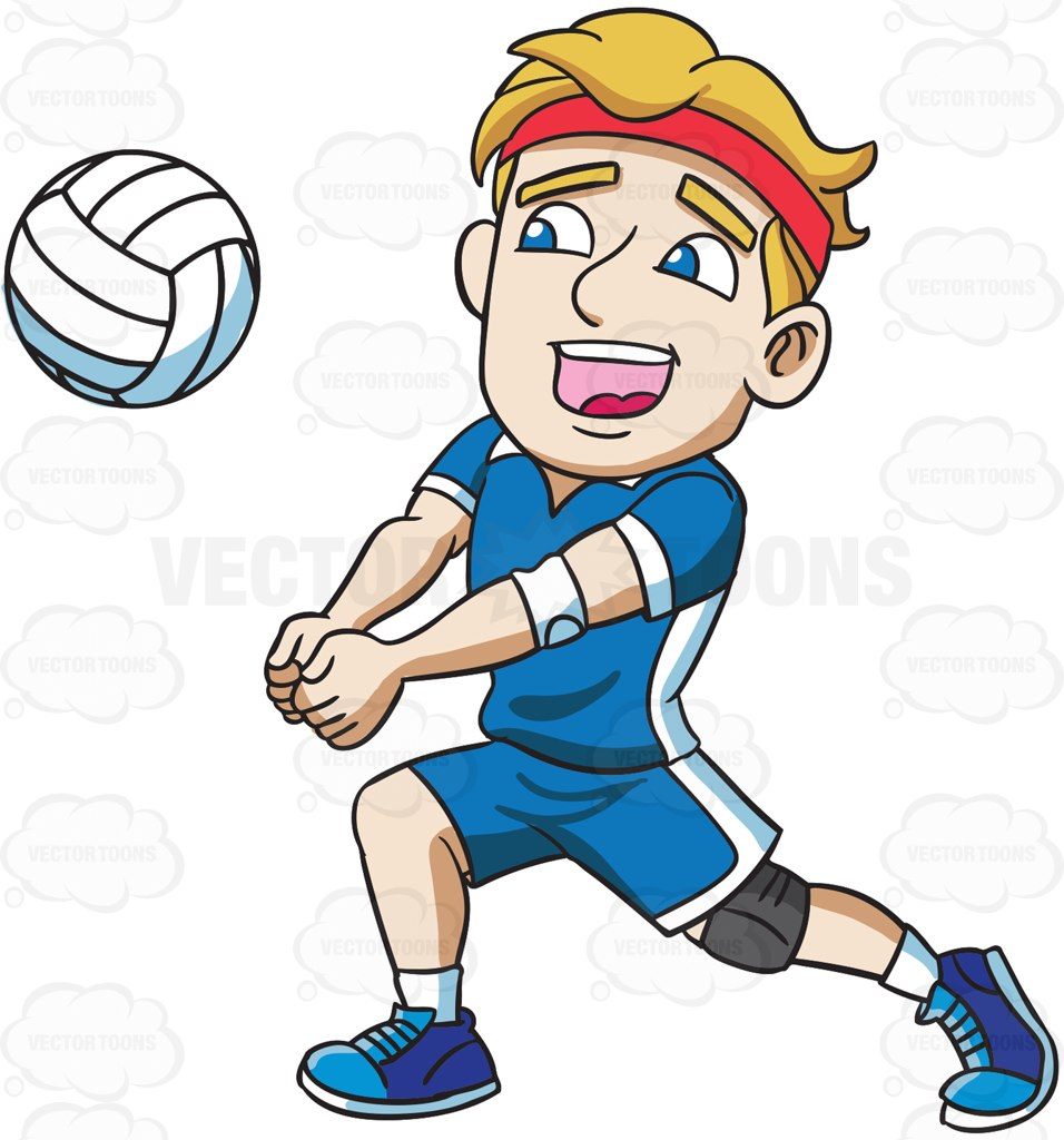 956x1024 A Male Athlete Playing Volleyball Male Athletes