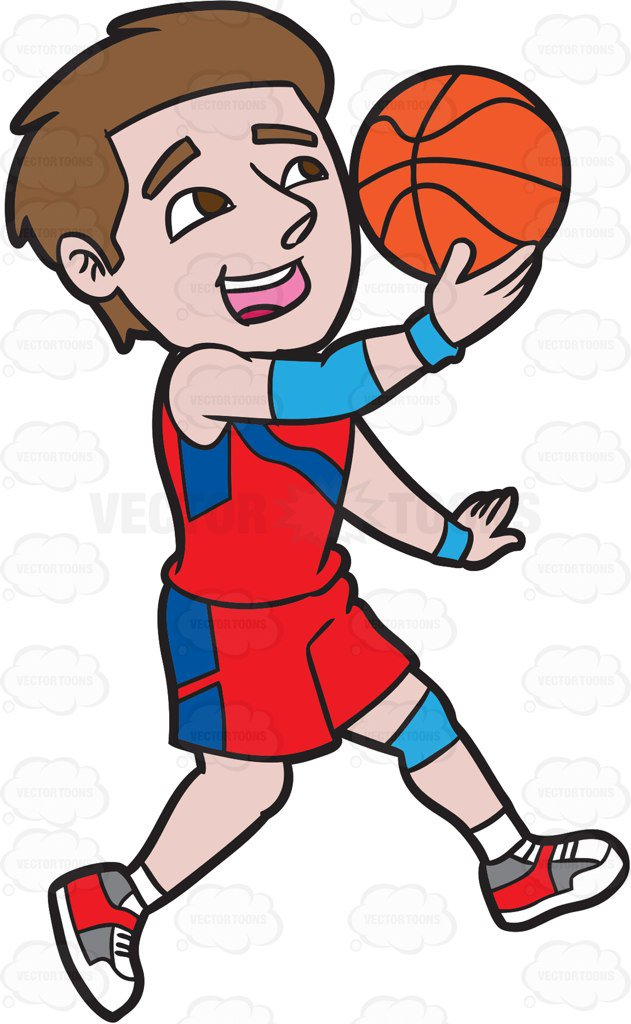 631x1024 A Male Basketball Player Jumping To Do A Lay Up Shot Cartoon