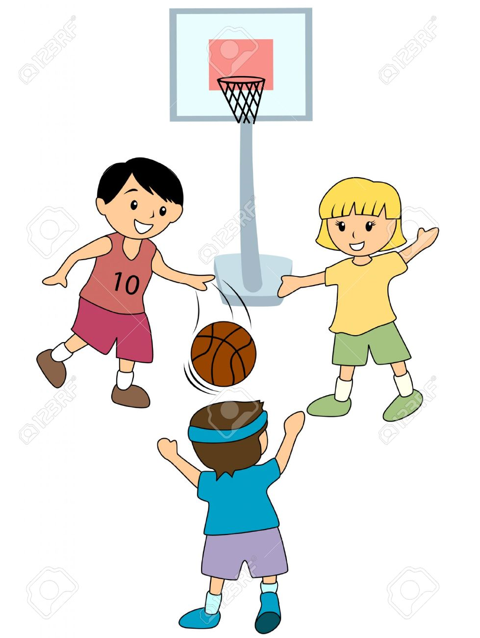 979x1300 Playing Basketball Clipart
