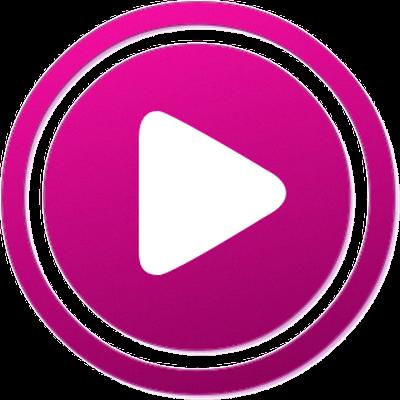 400x400 Play Purple Button Transparent Png