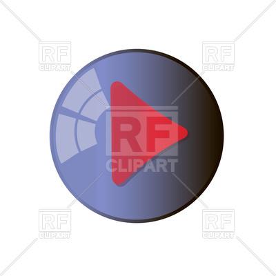 400x400 Play Button Royalty Free Vector Clip Art Image