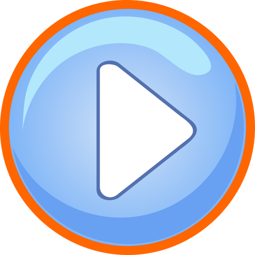 500x500 Blue And Orange Play Button Public Domain Vectors