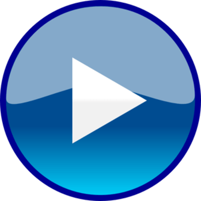 400x400 Play Blue Button Transparent Png