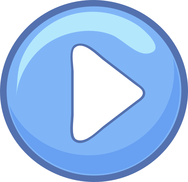 600x583 Blue Play Button Png, Svg Clip Art For Web