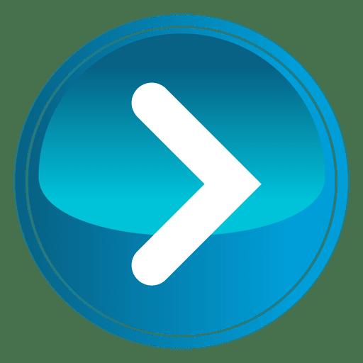 512x512 Blue Round Play Button