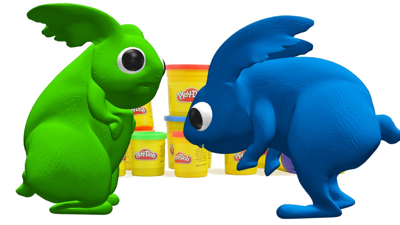 1280x720 Fun Play Doh Surprise Clay Animation Toys Rabbit Play Doh