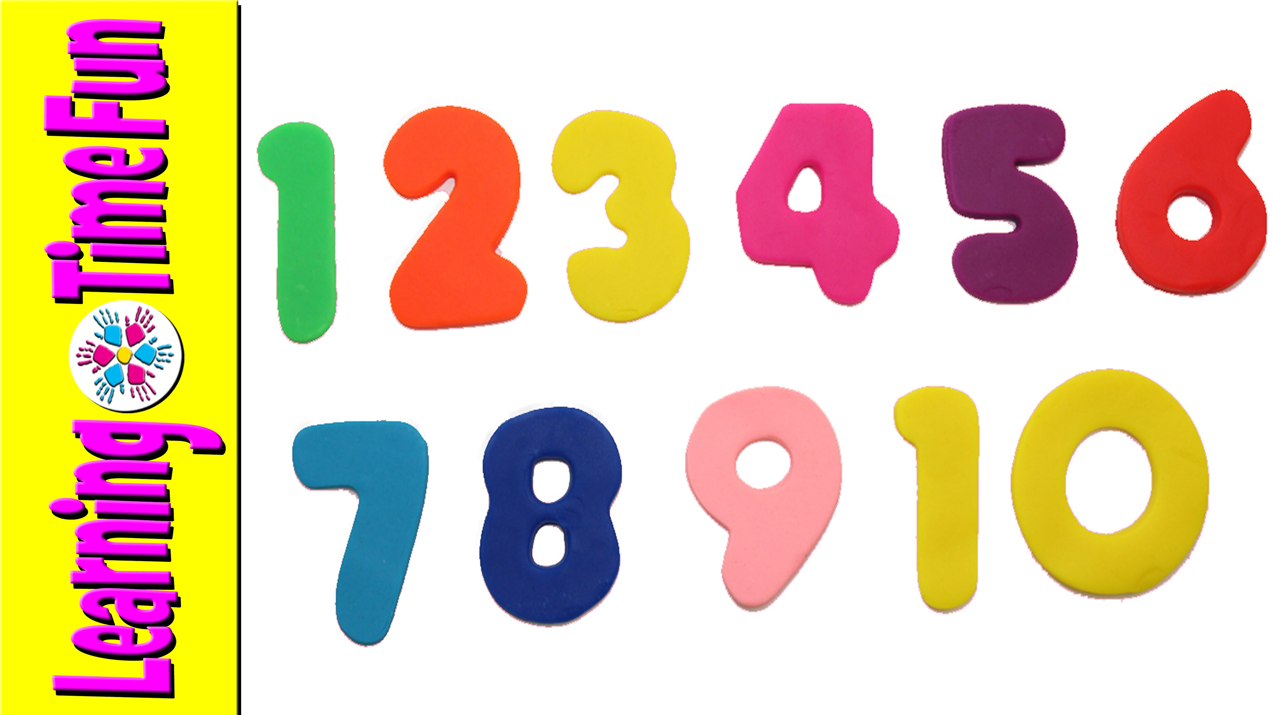 4096x2301 How Count From 1 10 With Play Doh, Count 1 10 Kids, Learn