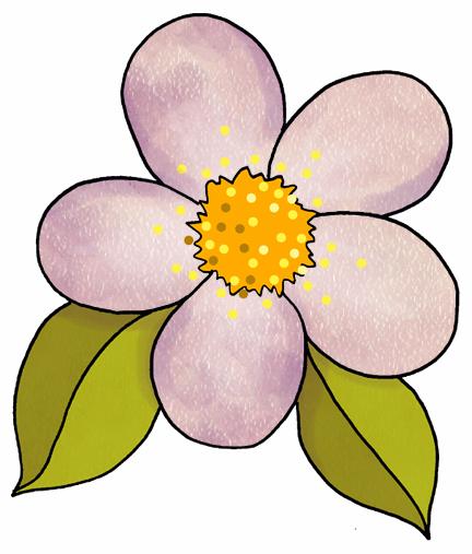 432x507 Orchid Flower Playdough Clipart