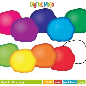350x350 Play Dough Play Doh Clipart By Digital Mojo Teachers Pay Teachers