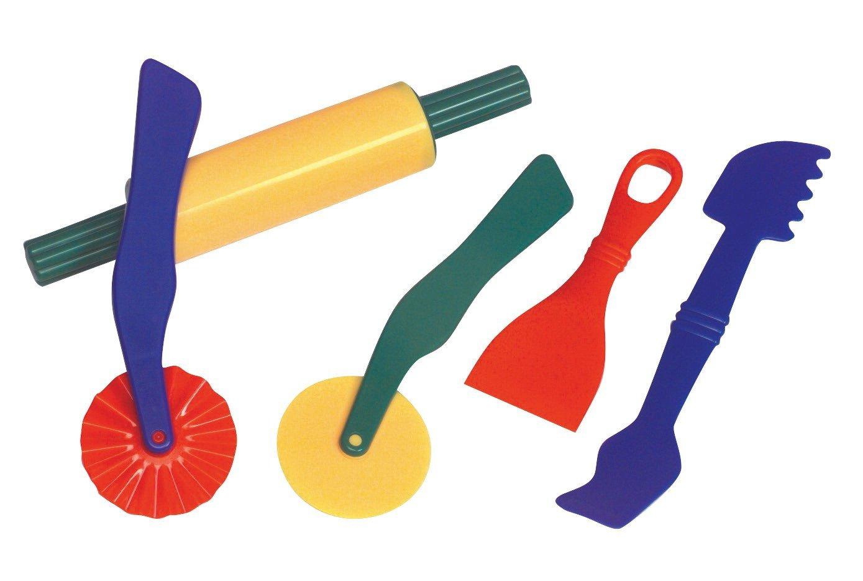 1389x934 School Smart Plastic Dough Tools