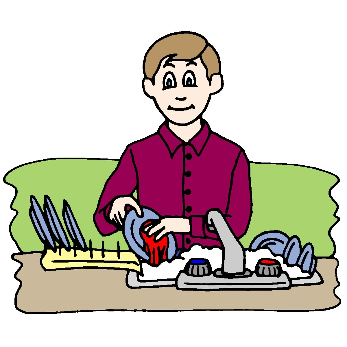 1200x1200 Cleaning The Kitchen Clipart Letters Example
