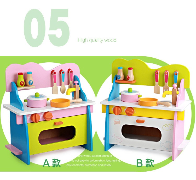 750x687 New Design Wooden Kitchen Toy,girl's Wooden Play Kitchen