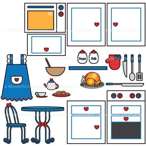 500x500 Play Kitchen Clipart 2