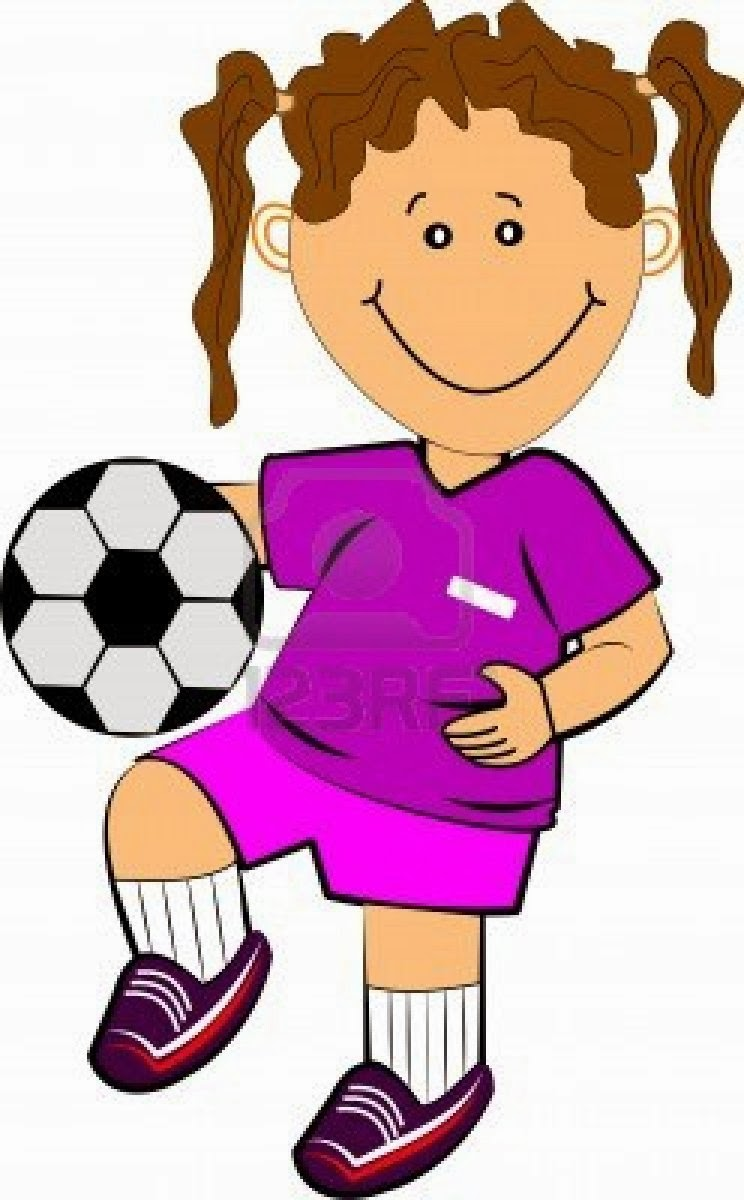 744x1200 Clipart Girl Playing