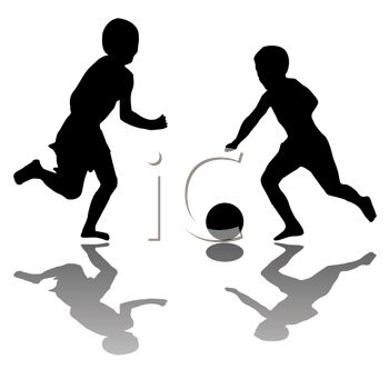 350x350 Royalty Free Clipart Image Kids Playing Soccer
